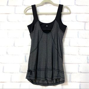 Lululemon Run: For Your Life Tank Black/gray Sz 10